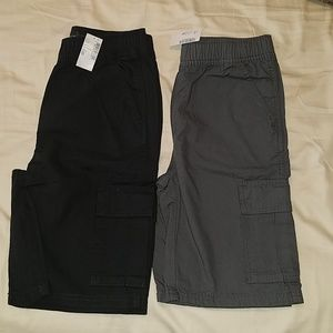 2 brand new pairs of cargo shorts size 12 boys